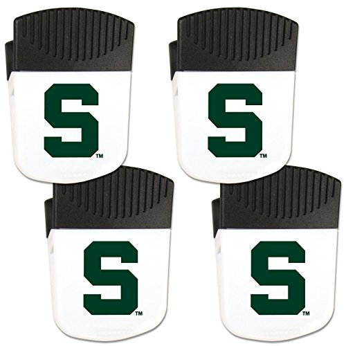 Siskiyou NCAA Michigan State Spartans Chip Clip Magnet with Bottle Opener, 4 Pack