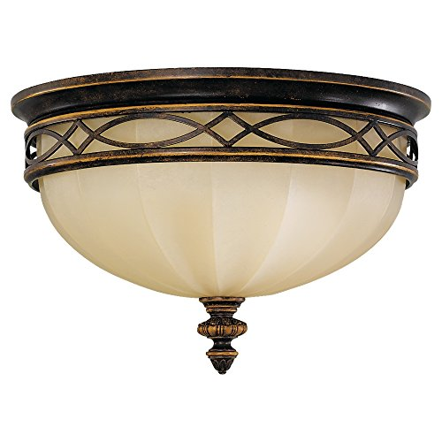 Sea Gull Lighting FM261WAL Drawing Room Three Light Flush Mount, 14