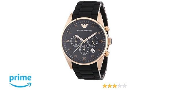 592e257e30a5 Emporio Armani Reloj Cronógrafo para Hombre de Cuarzo con Correa en Acero  Inoxidable AR5905  Emporio Armani  Amazon.es  Relojes