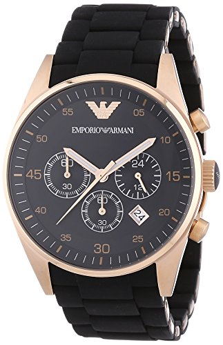 Emporio Armani Men's AR5905 Black Stainless Steel Watch by Emporio Armani