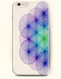 SevenArc New Apple iphone 6 (4.7inch) Hard Back Case - MANDALA CIRCLE - Beige Purple Blue Flimsy Mandala Circle wangjiang maoyi