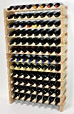 Modular Wine Rack Pine Wood 32-96 Bottle Capacity Storage 8 Bottles Across up to 12 Rows Stackable Newest Improved Model (96 Bottles - 12 Rows)