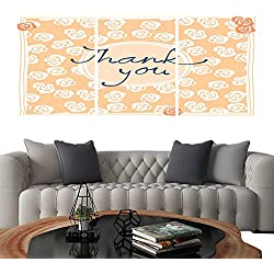 "UHOO Frameless Paintings 3 Pieces Painting CollectionThank You Card Design Template Simple Greeting Card Elegant Note Label Thanksgiving Symbol sign4. Hotel Office Decor Gift 24""x32""x3pcs"