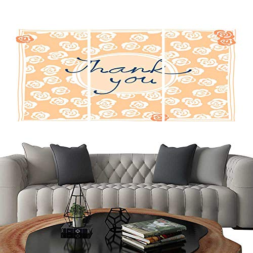 UHOO Canvas Print Wall Art Thank You Card Design Template Simple Greeting Card Elegant Note Label Thanksgiving Symbol sign4. Art Stickers 12