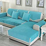 DW&HX Waterproof Anti-Slip Sofa Cover, Pets Dog Sectional Couch Water Resistant Stain Resistant Multi-Size Sofa Covers Slipcover Furniture Protector -Sold by Piece-Lake Blue 43x83inch(110x210cm)
