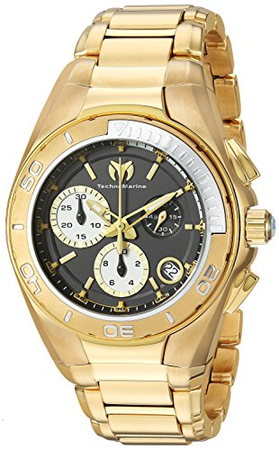 Technomarine Women's Manta Swiss-Quartz Watch with Stainless-Steel Strap, Gold, 11 (Model: TM-215029)