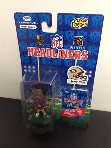 1996 Jerry Rice San Francisco 49ers NFL Football Figure by Headliners with collectors catalogue