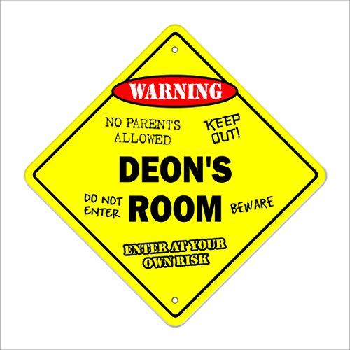 Deon's Room Sign Crossing Zone Xing | Indoor/Outdoor | 12