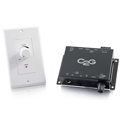 C2G 40914 Compact Amplifier with External Volume Control, TAA Compliant