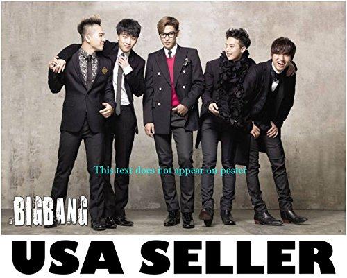 Bigbang standing & joking horiz Poster Top G-Dragon Tae Yang Korean boy band Big