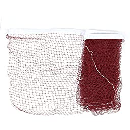 uxcell White Trim Dark Red 6m Length Shuttlecock Badminton Net
