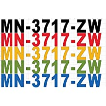 1 Set of Custom Registration Stickers - Boat, Jet Ski, Snowmobile, Four Wheeler and other recreational vehicles