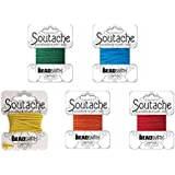 """Beadsmith Soutache Braided Rayon Cord / Trim Bundle: 5 Colors, 3mm Wide, 3 Yds per color 'Circus Mix"""""""