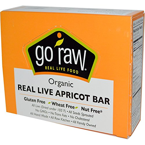 Go Raw Organic Real Live Apricot Bar 10 Bars 12 g Each by Go Raw