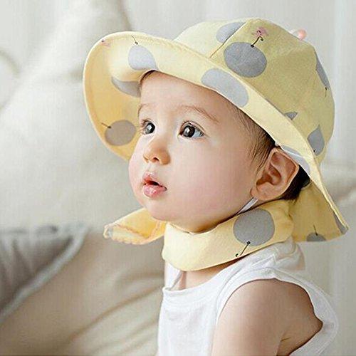 4740a9ee8570b Freedi Sun Hat Toddler Baby Wide Brim Kids Cotton Floppy Summer UPF Hat  with Chin Strap