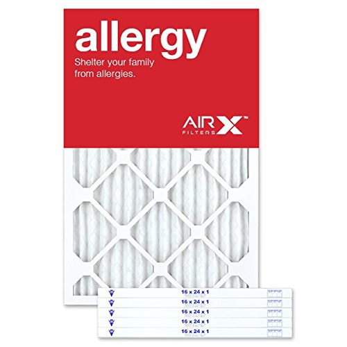 AIRx Filters Allergy 16x24x1 Air Filter MERV 11 AC Furnace Pleated Air Filter Replacement Box of 6, Made in the USA by AIRx Filters