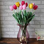 super1798-Real-Touch-Artificial-Silk-Tulip-Flower-Wedding-Bouquet-Home-Decor-Rose-Red