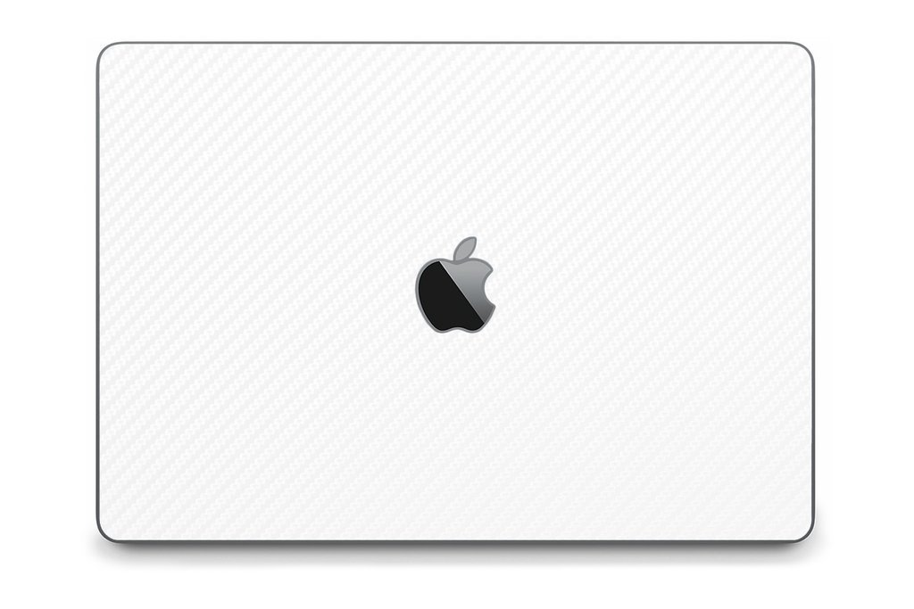 iCarbons White Carbon Fiber Skin Wrap for MacBook Pro 15'' (Late 2016-Current, With Touchbar) Full Combo