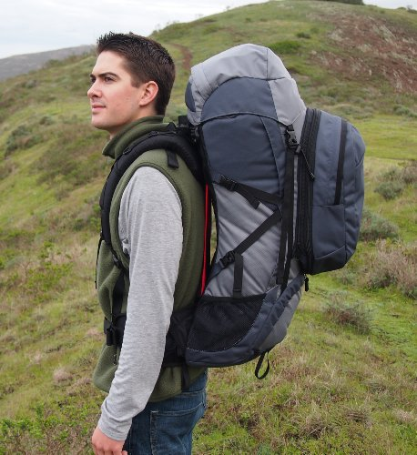 Guerrilla Packs Roundhouse Internal Frame Backpack, Middle Grey/Dark Grey by Guerrilla Packs (Image #6)