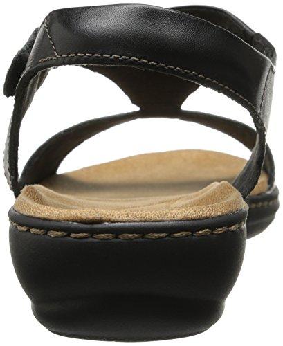 Clarks Womens Leisa Foilage Sandal Nero