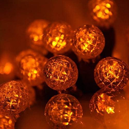 70 G12 Orange Globe String Lights, 24 ft LED Halloween Lights Ball Lights Halloween Decorations Outdoor Christmas String Lights for Bedroom Halloween String Lights Dorm Room Lights Party