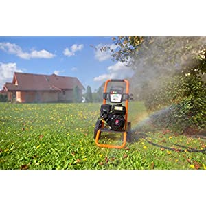 Gaspper GP3300HA 3300PSI 3.4 GPM Gas Powered Cold Water High Pressure Washer Power Washer Gasoline Easy Start Triplex Pump Strong Durable Frame and Wheels