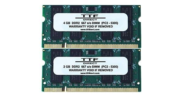 4GB X 2 DDR2 667 SODIMM by TTF Direct PC2-5300 8GB KIT