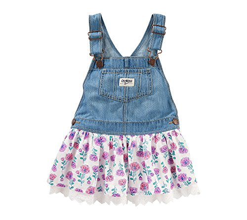 Child pageant photos: OshKosh B'Gosh Baby Girls' Denim With Floral Skirt Jumper
