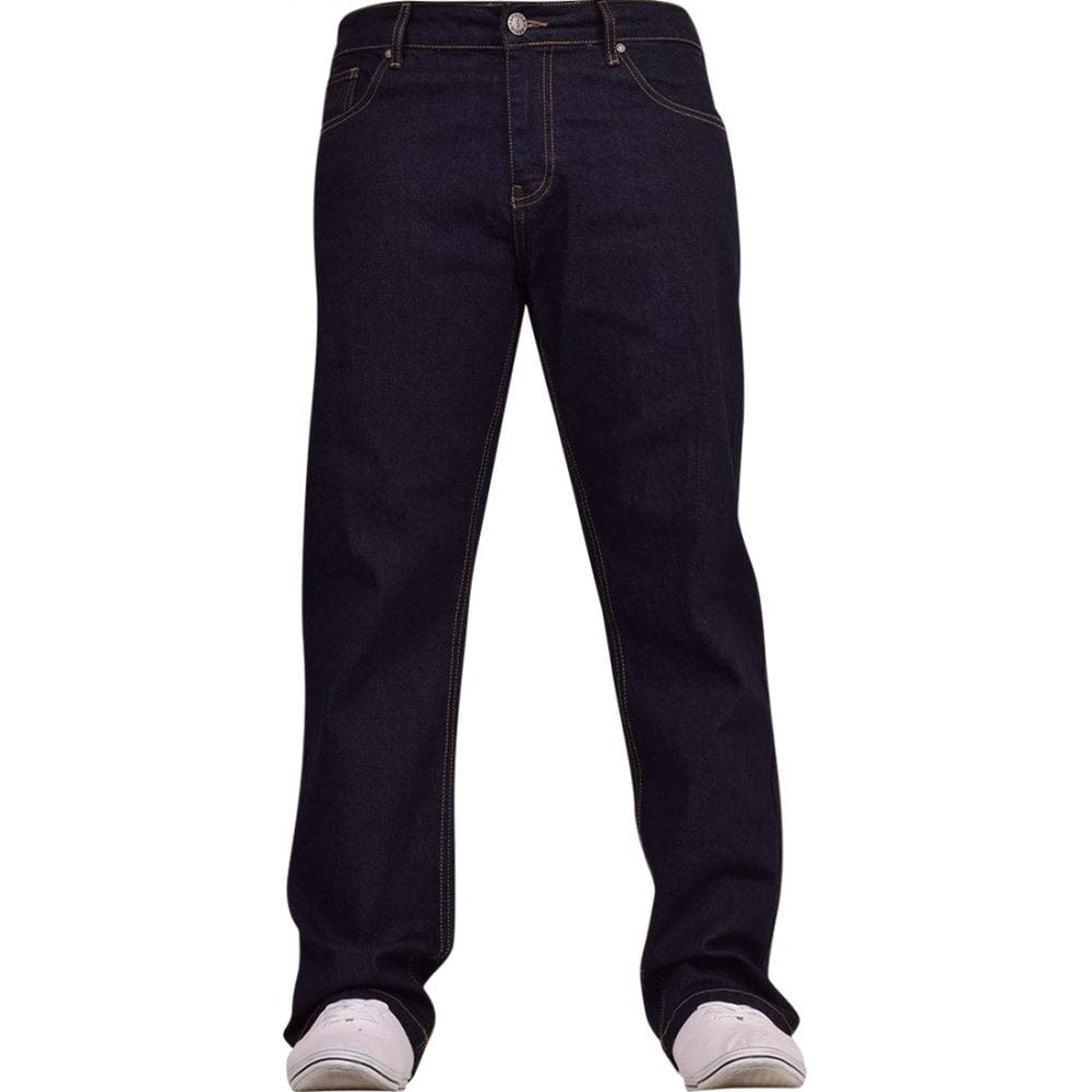 Spindle Mens Heavy Duty Straight Leg Basic Hardwearing 100% Cotton Zip Fly Denim Pants Jeans Sizes 30-48 inch Waist