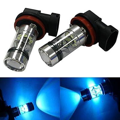 Allywit 2X H8 H11 100W 20LED HID 2323 Fog Driving DRL Light Bulbs