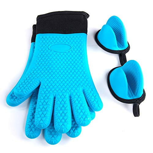 ZingLife Silicone Oven Mitt- 1 Pair of Extra Long Heat for sale  Delivered anywhere in USA