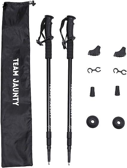 Strong Lightweight Trekking Poles 2pc Pack Adjustable Hiking or Walking Sticks
