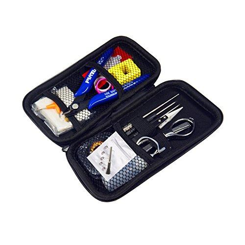 Coil Building Kit, Jig Tool RBA/RDA/RTA DIY Building Bag V3,14 Pieces General Household Tool Master kit/Organic Cotton/Ceramic Tweezers