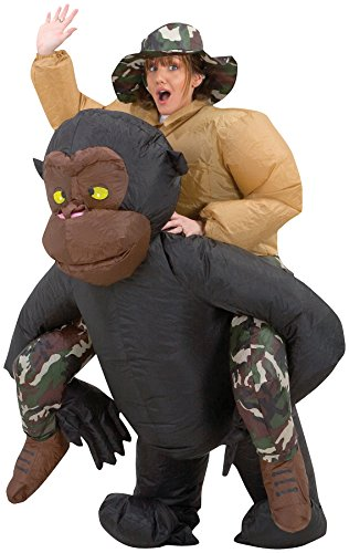 UHC Riding Gorilla Inflatable Outfit Funny Theme Party Halloween Fancy Costume, OS (Funny Movie Halloween Costumes)