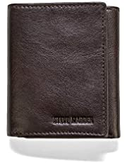 steve madden Men's Leather Trifold Wallet