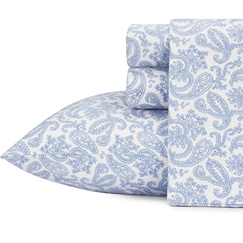 Laura Ashley Flannel Queen Sheet Set: Laura Ashley 216262 Fulham Paisley Flannel Sheet Set