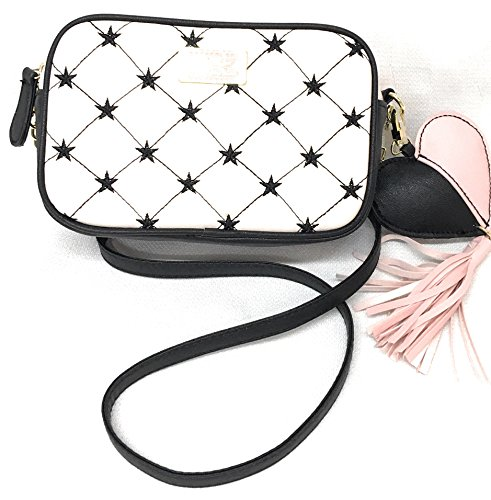 Betsey Johnson Crossbody Bag in Ivory with Stars, Love Betsey Deena ()