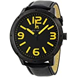 Brooklyn Watch Company De Kalb Black and Yellow Dial Mens Watch 1950BBY