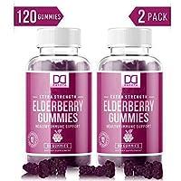 2-Pack Mix Rx Organic Elderberry Gummies for Immune System