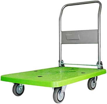 300kg Folding Platform Hand Trolley Compact Truck Cart with Wheels For Transportation