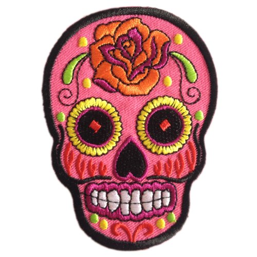 Sugar Skull Sunny Buick Day of the Dead Tattoo Rock Punk Iron...