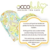 OCCObaby 3 Piece Wooden Baby Hair Brush And Comb Set For Newborns And Toddlers Natural Soft Goat Bristles For Cradle Cap Wood Bristles Baby Brush For Massage Perfect For Baby Registry