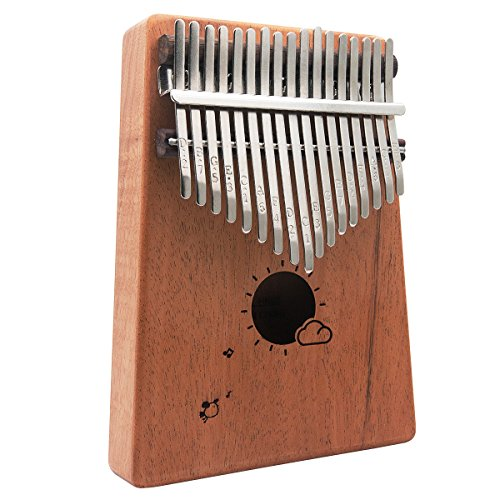 Funnyletric Kalimba Thumb Piano 17 Keys, Finger Piano Mbira with Tune Hammer, Musical STEM Toy Instrument Mahogany for Music Lovers Beginners and Child by Funnyletric