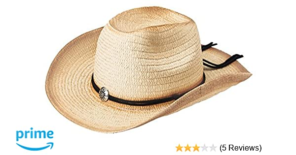 Amazon.com  The Paragon Women s Cowboy Hat - Western Woven Straw with  Adjustable Brim  Sports   Outdoors 0e8c8d5e2c2