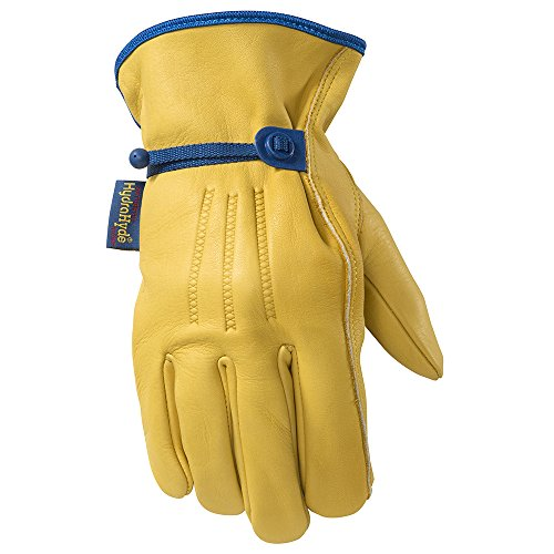 Men's HydraHyde Leather Work Gloves, Water-Resistant, Medium (Wells Lamont 1164M)