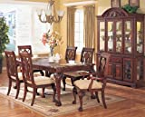 Classic Wooden Dining Table with Leaf in Cherry Finish ADS90160