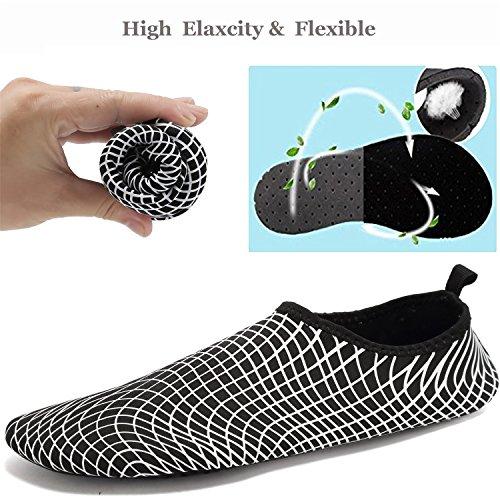 Tcife Männer Frauen Barfuß Wasser Aqua Schuhe Haut flexible Socken für Schwimmen, Wandern, Garten, Park, Fahren, Yoga, See, Strand Swim Ändern Weiß