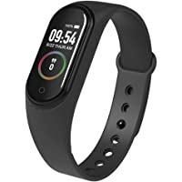 HUG PUPPY Smart Band Fitness Tracker Watch Heart Rate with Activity Tracker Waterproof Body Functions Like Steps Counter, Calorie Counter, Blood Pressure, Heart Rate Monitor OLED Touchscreen