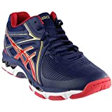 ASICS Men's Gel-Netburner Ballistic MT Volleyball Shoe, Indigo Blue/Prime Red/Rich Gold, 6.5 Medium US
