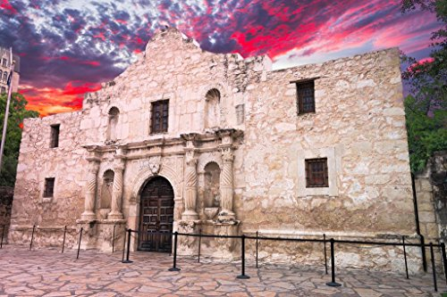 The Alamo San Antonio Texas Photo Art Print Poster 24x36 - Pictures San The Texas Of Antonio Alamo In